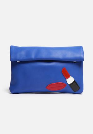 Nila Anthony Clutch With Lips Bags & Purses Blue