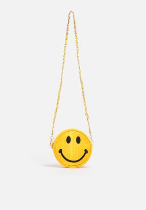 Nila Anthony Smiley Face Sling Bag Yellow