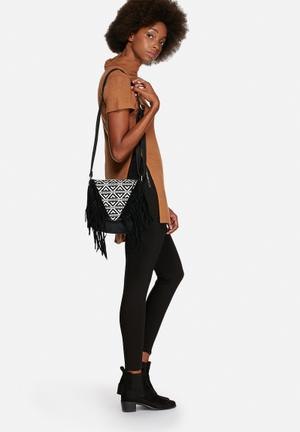 Nila Anthony Jackson Fringe Sling Bag Black