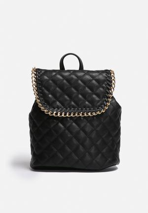 Nila Anthony Lexi PU Quilted Backpack Bags & Purses Black