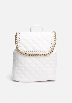 Nila Anthony Lexi PU Quilted Backpack Bags & Purses Ivory