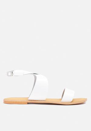 Vero Moda Sandra Leather Sandal White