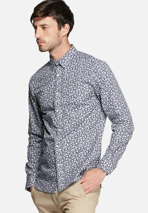 Jack & Jones Premium Hogun Slim Shirt Blue Depths