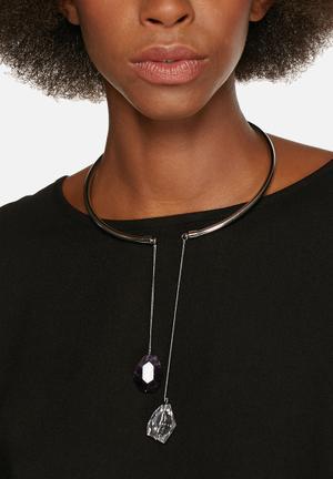 Vero Moda Karna Necklace Jewellery Silver & Gun Metal