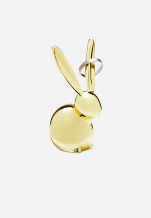 Umbra Zoola Bunny Ring Holder Organisers & Storage Brass Finish