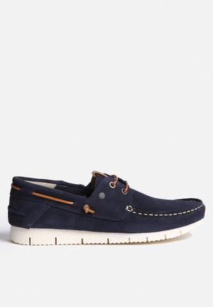Jack & Jones Footwear & Accessories Larco Suede Casual Shoe Slip-ons And Loafers Navy