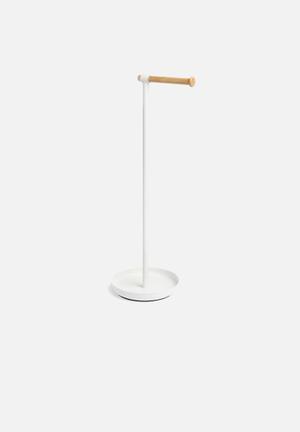 Umbra Vana Toilet Paper Stand Bath Accessories Metal & Beechwood