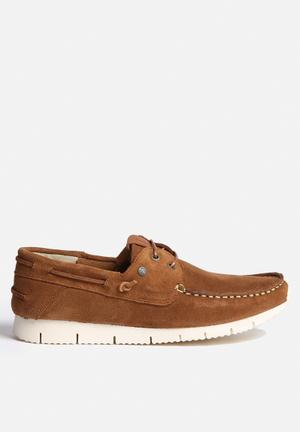 Jack & Jones Footwear & Accessories Larco Suede Casual Shoe Slip-ons And Loafers Cognac