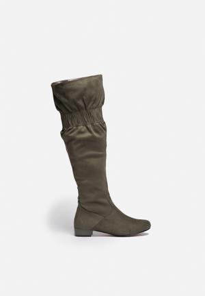 Gino Paoli Knee High Boot Khaki Green