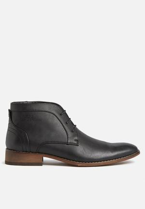 Gino Paoli Distressed Ankle Boot Black