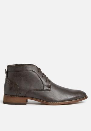 Gino Paoli Distressed Ankle Boot Brown