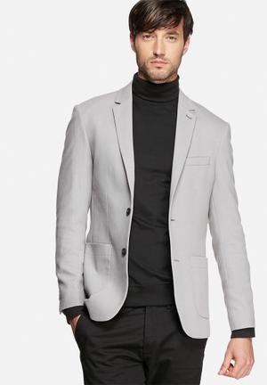 Jack & Jones Premium Kendrick Slim Blazer Jackets & Coats Grey