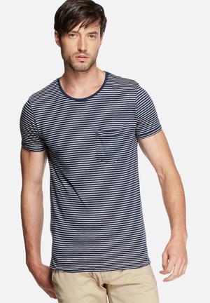 Jack & Jones Premium Bern Tee T-Shirts & Vests Navy Blazer