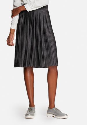 ONLY Merla Shiny Pleated Skirt Dark Grey