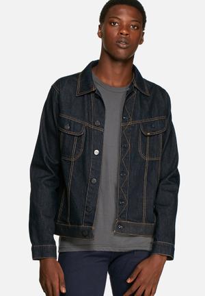 Lee  Rider Jacket  Mid Blue