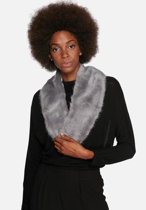 Range Milan Collar Scarves Storm Grey