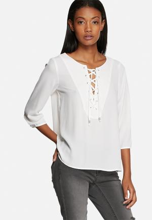 ONLY Smilla String Top Blouses White