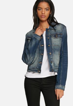 GUESS Brittney Denim Jacket Medium Blue