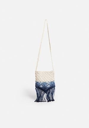 South Beach  Macrame Bag Blue