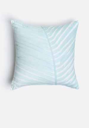 Sixth Floor Misty Leaf Printed Cushion Cotton Twill