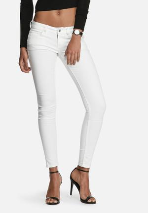 G-Star RAW 3301 Super Skinny Jeans White