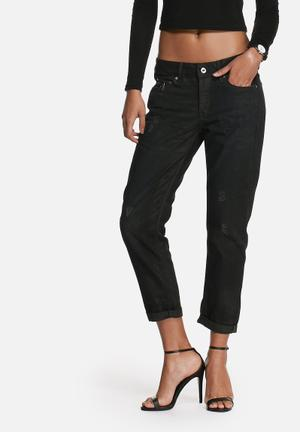 RAW For The Oceans Occotis Low Boyfriend Jeans Black