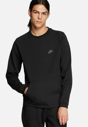 Nike Tech Fleece Crew Hoodies & Sweatshirts Black