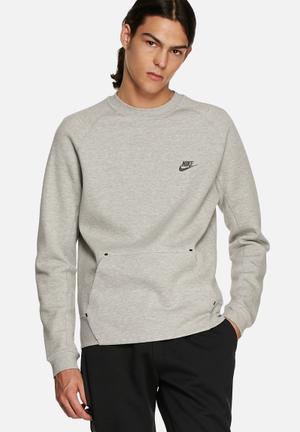 Nike Tech Fleece Crew Hoodies & Sweatshirts Grey Melange