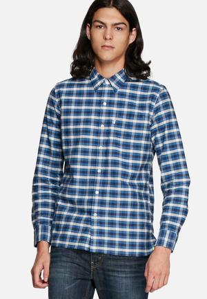 Levi's® Checkered Slim Shirt Blue