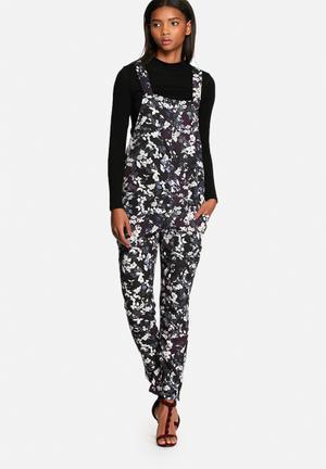Neon Rose Springs Jumpsuit Black Multi