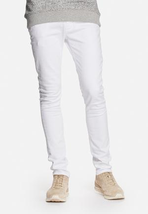 Selected Homme One Fabios Slim Jeans White