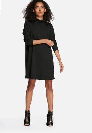 Dailyfriday Chev Polo Neck Dress Casual Black