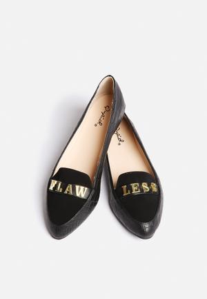 Qupid Swift Loafer Pumps & Flats Black