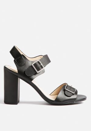 Qupid Clarity Heels Black