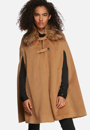 Influence. Wool Cape Jackets Tan