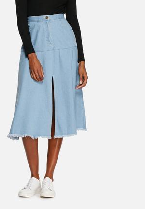 The Fifth Vantage Point Skirt Light Blue Denim