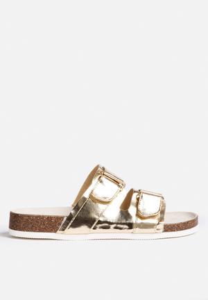 Qupid Deco Sandals & Flip Flops Gold