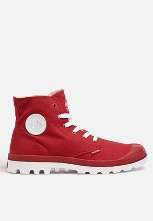 Palladium Blanc Hi Boots Red