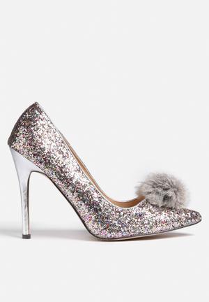 Chase & Chloe Plaza Heels Silver