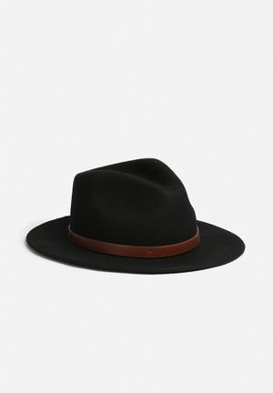 Brixton Messer Fedora Headwear Black