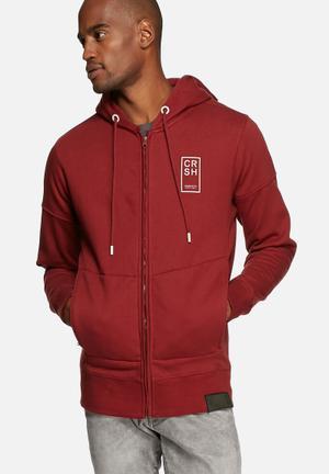 Crosshatch Lankton Hoodie Hoodies & Sweatshirts Red