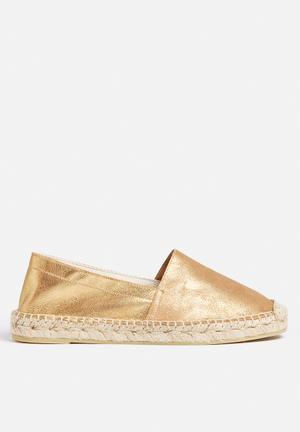 Vero Moda Lani Leather Espadrille Pumps & Flats Gold