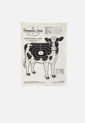 Suck UK Target Tea Towel Beef Dining & Napery 100% Cotton