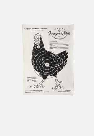 Suck UK Target Tea Towel Chicken Dining & Napery 100% Cotton