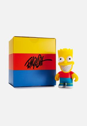 Kidrobot The Simpsons: Bart Grin By Ron English Mini Figure Toys & LEGO Vinyl