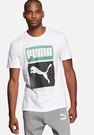 PUMA Brand Tee T-Shirts White