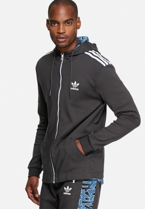 Adidas Originals Shatter Stripe Hoodie Hoodies & Sweatshirts Black