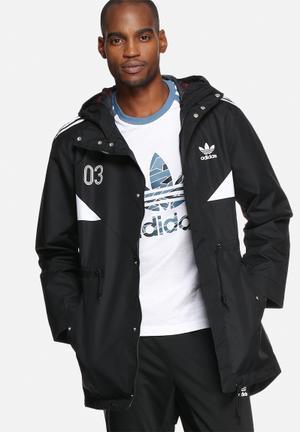 Adidas Originals Classic Parka Hoodies & Sweatshirts Black