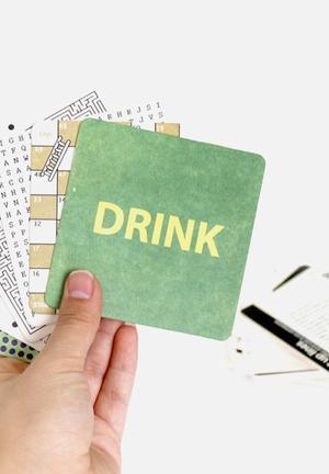 Suck UK Drink Mats Games & Puzzles Paper
