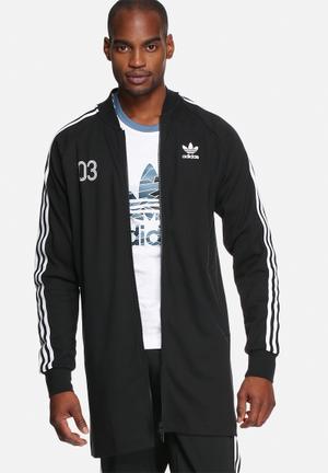Adidas Originals Superstar Long Track Top Hoodies & Sweatshirts Black